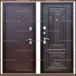 Входная дверь Ковка-1 Лесной орех со стекло-пакетом 100 мм..