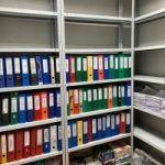 Металлический стеллаж архивный