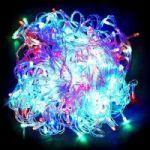 Разноцветная светодиодная гирлянда-нить 300 LED лампочек 19 м