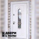 Металлическая дверь с ковкой и стеклопакетом Стальная Линия