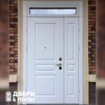 Входная металлическая дверь Стальная Линия с фрамугой