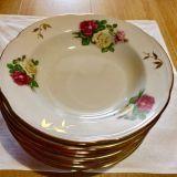 Тарелка СССР с золотым ободком для первых блюд