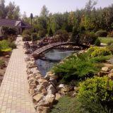 Строительство пруда, водопада, подпорных стен, многоуровневых клумб