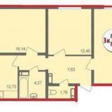 Продам 3 к. квартиру 86 кв. м.ул.9-я Тихая.