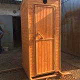 Туалет дачный деревянный