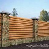 Забор деревянный хвойных пород собственного производства.