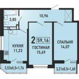 Продаю 2 к. кв. ККБ город Краснодар