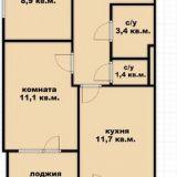 Продам двухкомнатную (2-комн.) квартиру, Командорская ул, 3к1, Краснодар г
