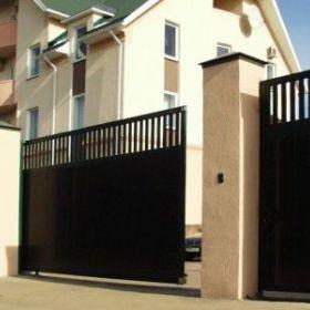 Современные откатные (сдвижные) ворота в Краснодаре. Изготовление, монтаж!