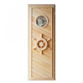 Двери для бани из кавказской липы